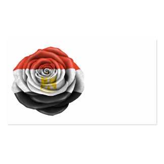 Egyptian Rose Flag on Black Business Cards