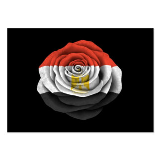 Egyptian Rose Flag on Black Business Card