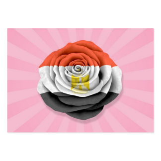 Egyptian Rose Flag on Pink Business Card