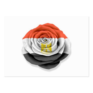 Egyptian Rose Flag on White Business Cards