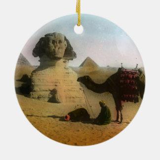 Egyptian Round Ceramic Ornament
