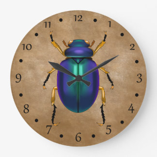 Egyptian Sands Scarab Beetle Large Clock