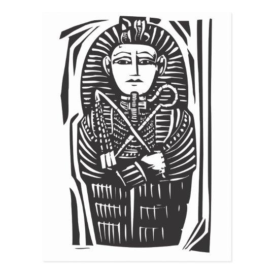 Egyptian Sarcophagus Postcard