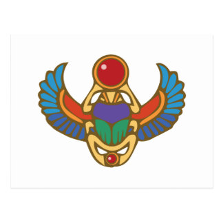 Egyptian Scarab Postcard