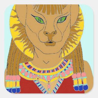 Egyptian Square Sticker