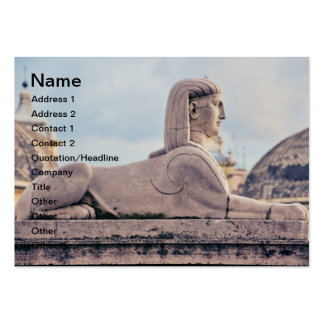 Egyptian statue business card templates