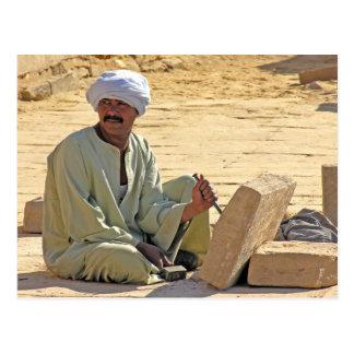 Egyptian Stonemason Postcard
