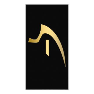Egyptian symbol of truth photo greeting card