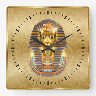 Egyptian Theme Wall Decor Square Wall Clock