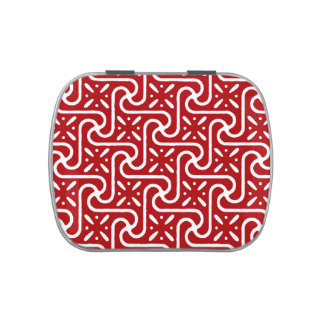 Egyptian tile pattern, dark red and white