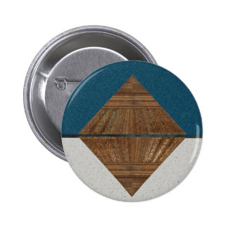 Egyptian Topaz Golden Pyramid Abstract Art 2 Inch Round Button