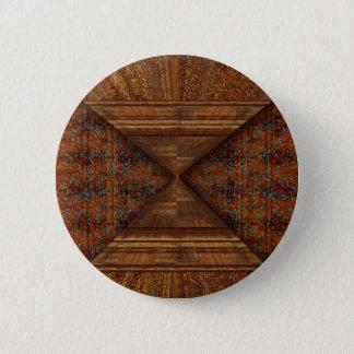 Egyptian Topaz Golden Pyramid Abstract Art 2 Inch Round Button