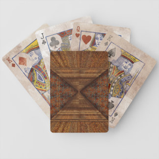 Egyptian Topaz Golden Pyramid Abstract Art Bicycle Playing Cards