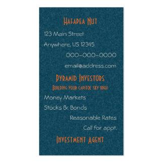 Egyptian Topaz Golden Pyramid Abstract Art Business Card
