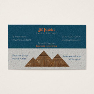 Egyptian Topaz Golden Pyramid Abstract Art Business Card