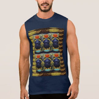 Egyptian Vintage Historical Jewel PYRAMID Cosmic Sleeveless Shirt