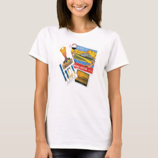 Egyptian vintage travel posters t-shirt for women