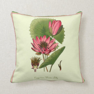 Egyptian Water Lily Throw Pillow