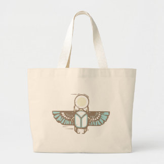 Egyptian Winged Scarab Large Tote Bag
