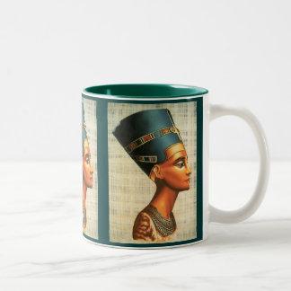 Egyptica Queen Nefertiti Ancient History Drinkware Two-Tone Coffee Mug