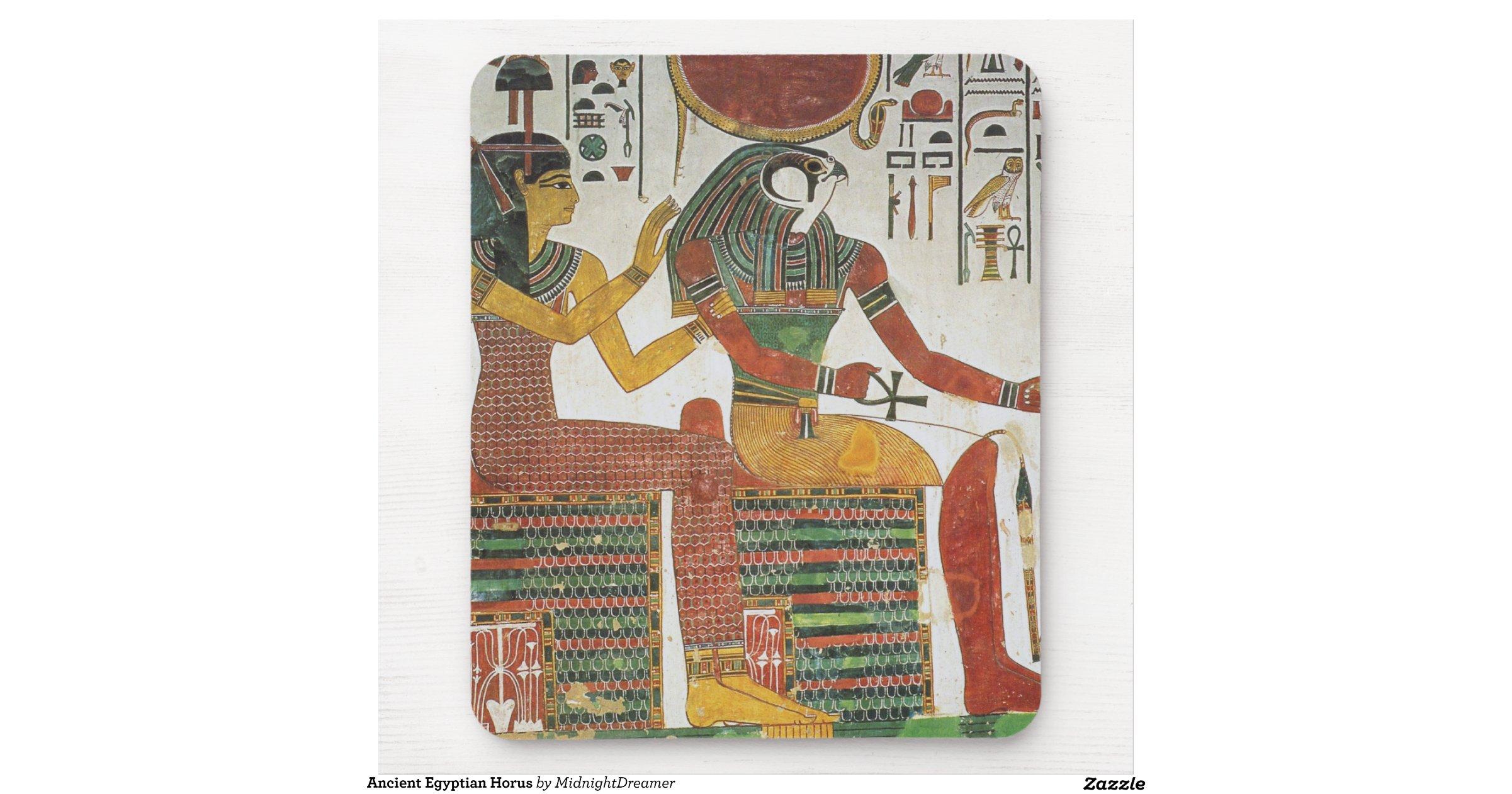 egyptien antique horus tapis de souris zazzle. Black Bedroom Furniture Sets. Home Design Ideas