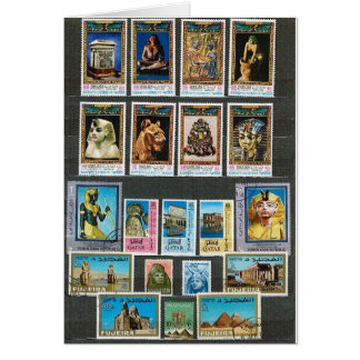 Egyptology on stamps card