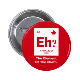 Eh? Canadian Element of Canada 2 Inch Round Button