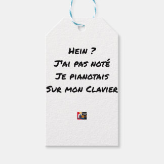 EH? I NOT NOTED AI, I TINKLED AWAY AT THE PIANO ON GIFT TAGS