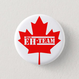 Eh Team Canada Maple Leaf 1 Inch Round Button