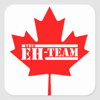 Eh Team Canada Maple Leaf Square Sticker
