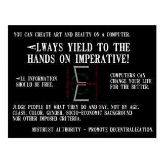 EHC Mariomatt Hacker Ethic Mousepad It Matters Postcard