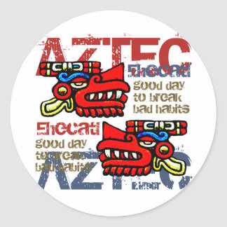 Ehecatl - Aztec Gifts & Greetings Round Sticker