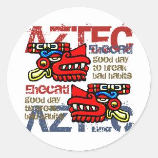 Ehecatl - Aztec Gifts & Greetings Round Sticker