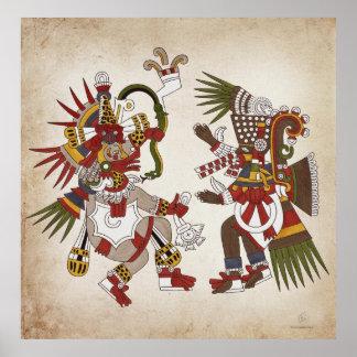 Ehecatl & Tezcatlipoca Poster