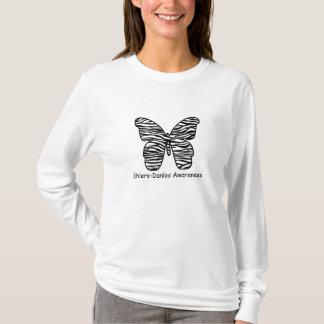 Ehlers Danlos Awareness Zebra Butterfly Shirt