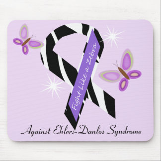 Ehlers-Danlos EDS Fight Like A Zebra Mouse Pad