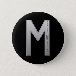 Ehwaz Rune grey 2 Inch Round Button