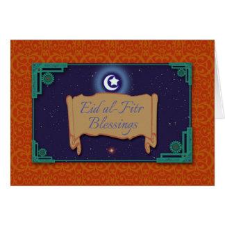 Eid al-Fitr Blessings Ornate Greeting Card