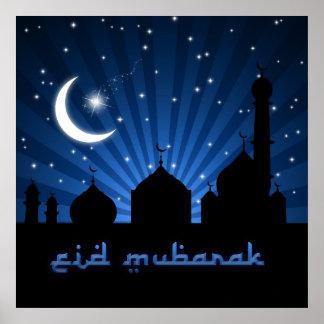 Eid Mosque Blue Night - Poster