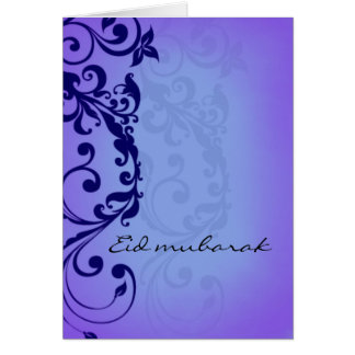 Eid mubarak - deep purple greeting card