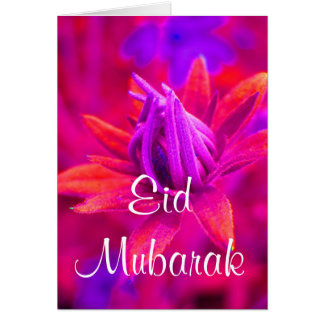 Eid mubarak floral greeting card
