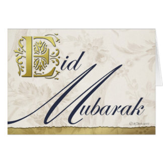 Eid Mubarak Floral Greeting Card