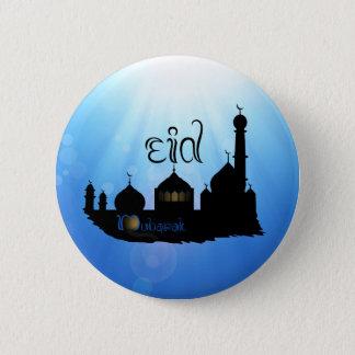 Eid Mubarak Mosque with Sunrays - Button