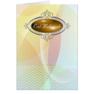 Eid Mubarak PastelChevron Card