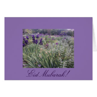 Eid Mubarak! Purple flower garden garden Card