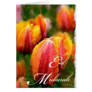 Eid Mubarak-Tulips Card