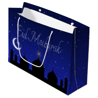 Eid Night Stars Mosque - Large Gift Bag