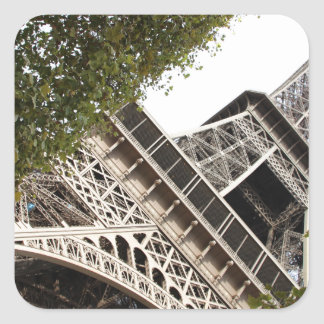 eifel tower, love, paris, france square sticker