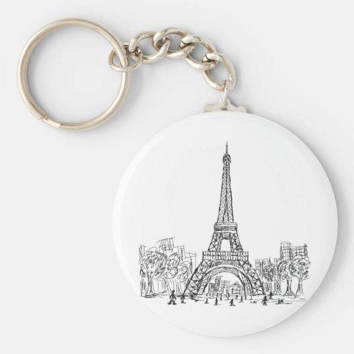Eifel Tower Paris Keychain