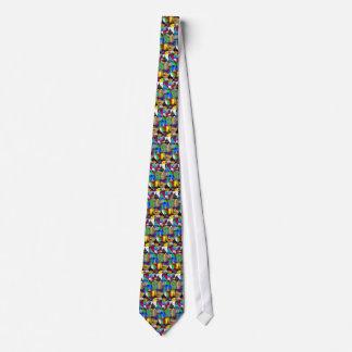 eiffel collage tie